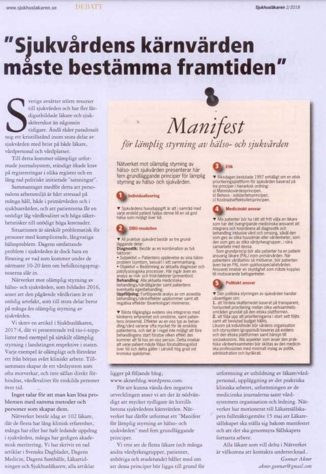 Manifest Sjukhusläkaren 2018 nr 2